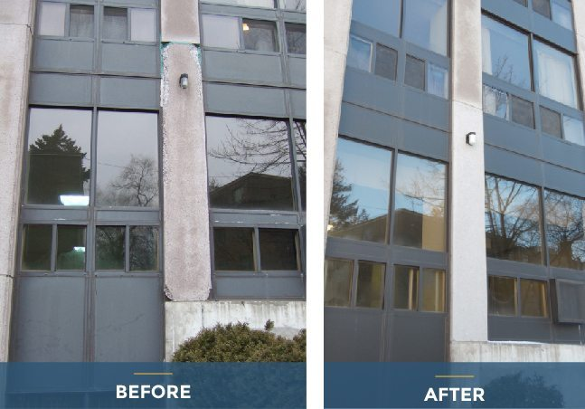 building restoration before-after
