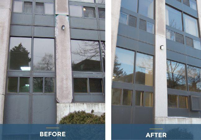 building restoration before-after